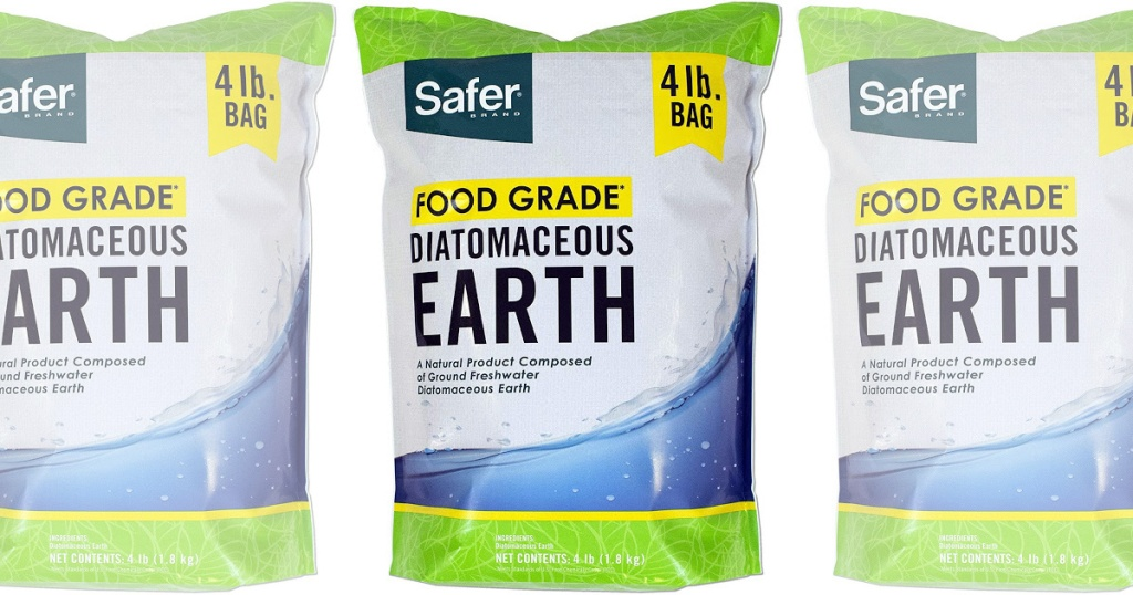 3 bags of Safer Brand 51704 Food Grade Diatomaceous Earth