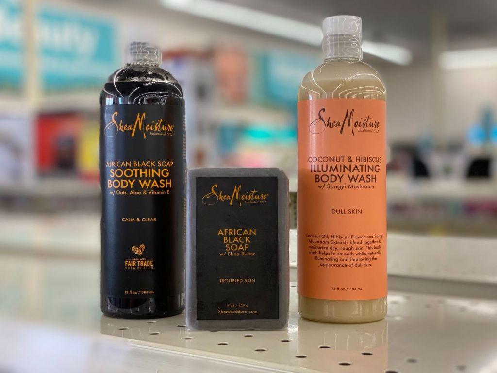 Shea Moisture products on shelf at CVS