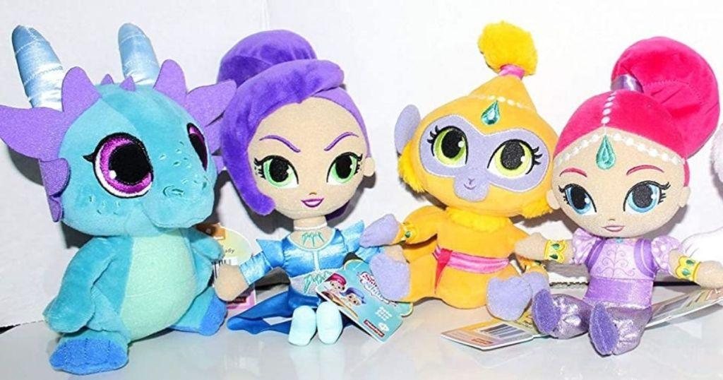 four Shimmer & Shine Plush Dolls