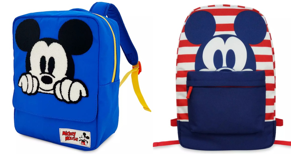 two kids mickey mouse backpacks