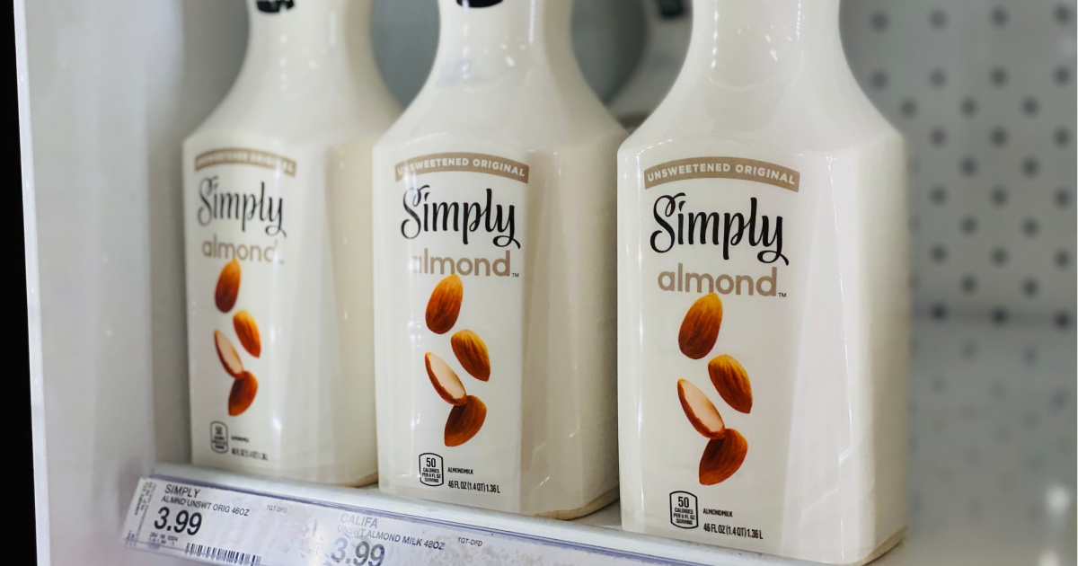 3 Simply Almond Bottles at Target in the cooler
