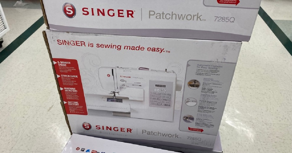 singer sewing and quilting machine in a box at joanns
