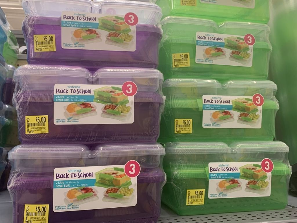 Sistema Back To School Bento Lunch Box Kits