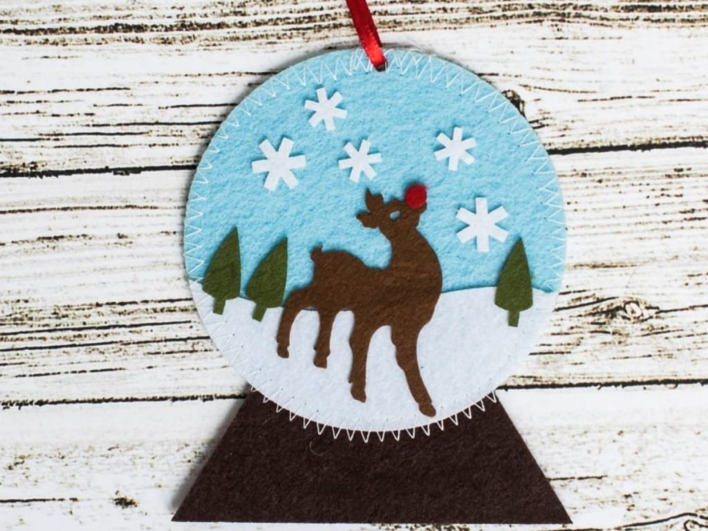 Snow Globe Ornament Felt Craft Kit for Kids
