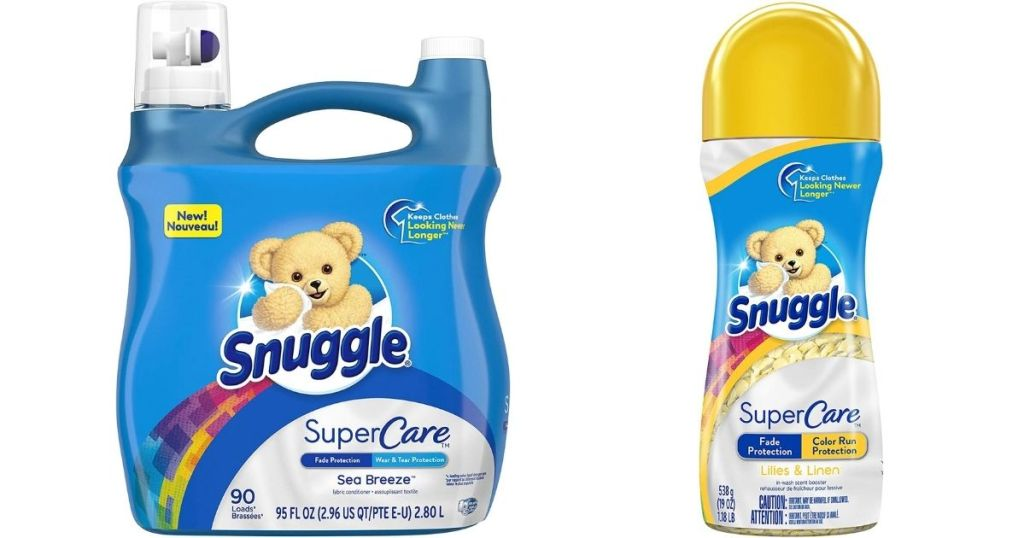 two Snuggle Laundry Care products