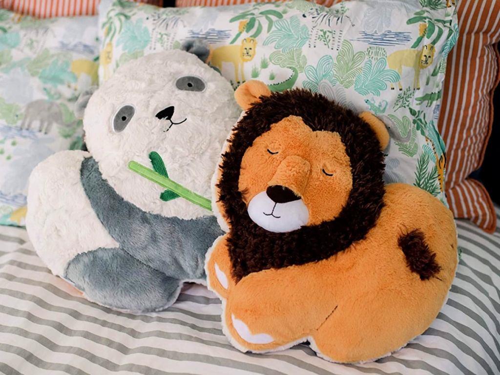 Soft Landing Backflips Reversible Lion/Panda Plush