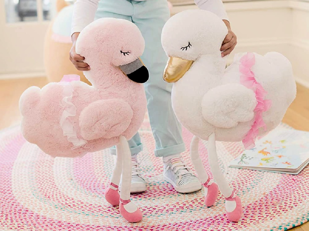 Soft Landing Backflips Reversible Swan/Flamingo Plush