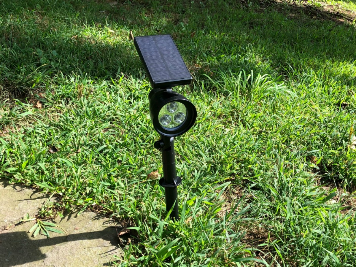 Solor Powered Light out in lawn