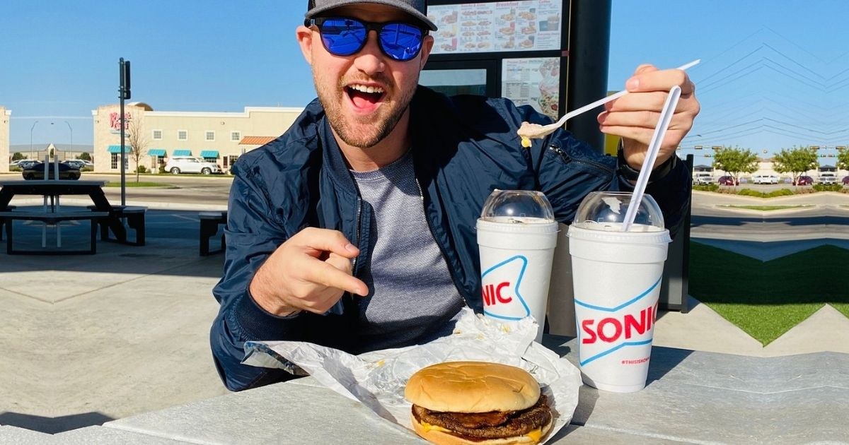 Sonic Garlic Butter Bacon Burger and Trick or Treat Blasts