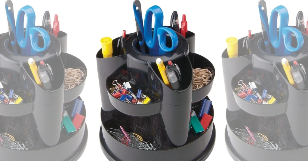 3 Staples 10 compartment rotating organizers