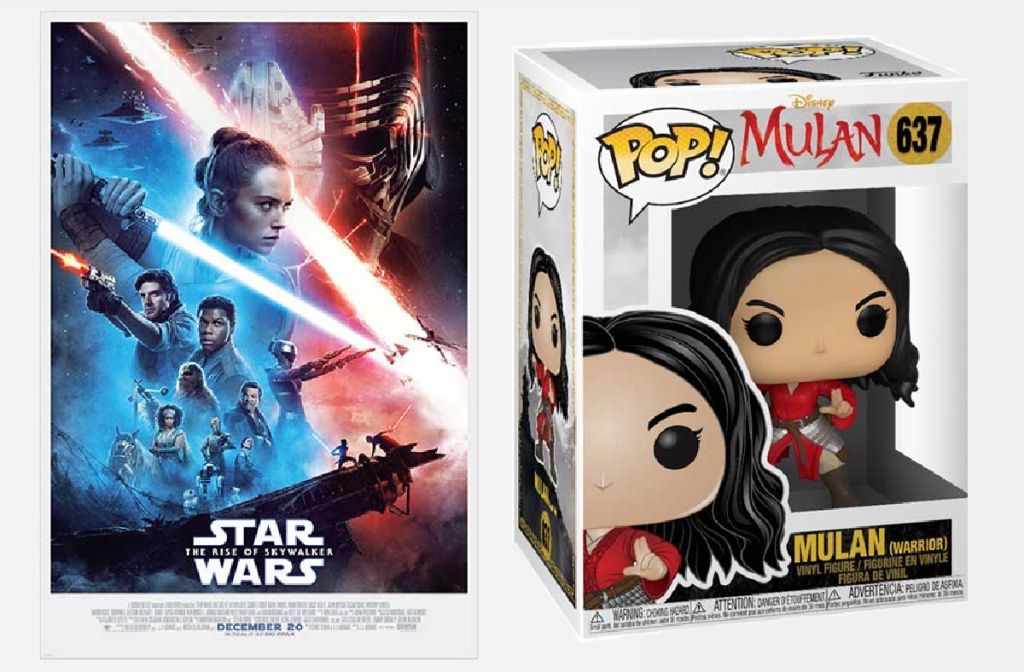 Star Wars The Rise of Skywalker and Pop! Mulan