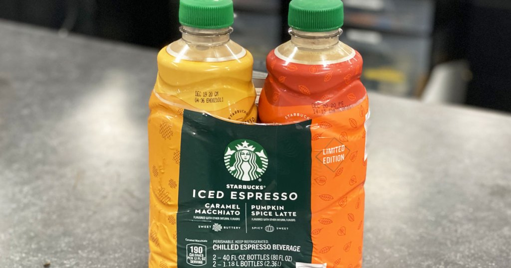 two pack of starbucks chilled espresso drinks