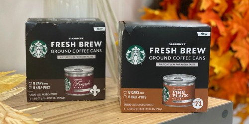 Starbucks Fresh Brew Ground Coffee Cans 8-Count Only $1.69 After Cash Back at Target (Regularly $12)