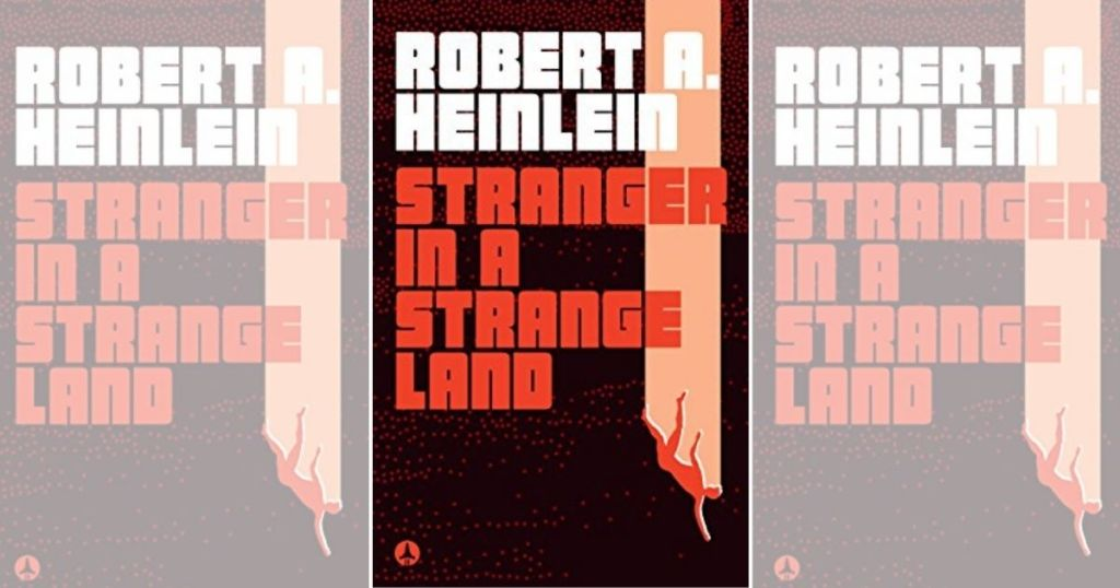 three Stranger In A Strange Land book covers