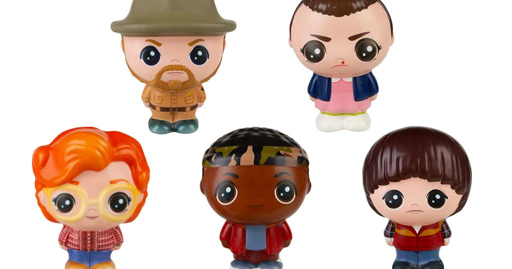 stranger things characters shaped squishable toys