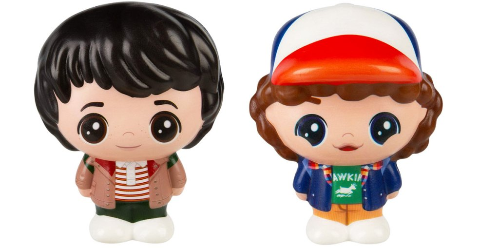 squishable toys of mike & dustin from stranger things