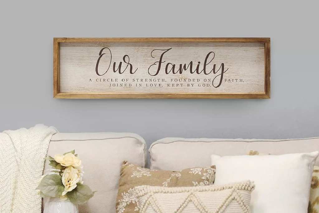 Stratton Home Decor Our Family Framed Wall Art