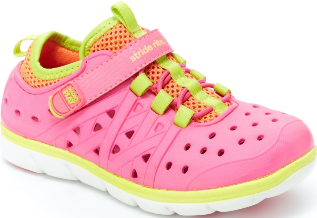 girls pink and yellow sneakers