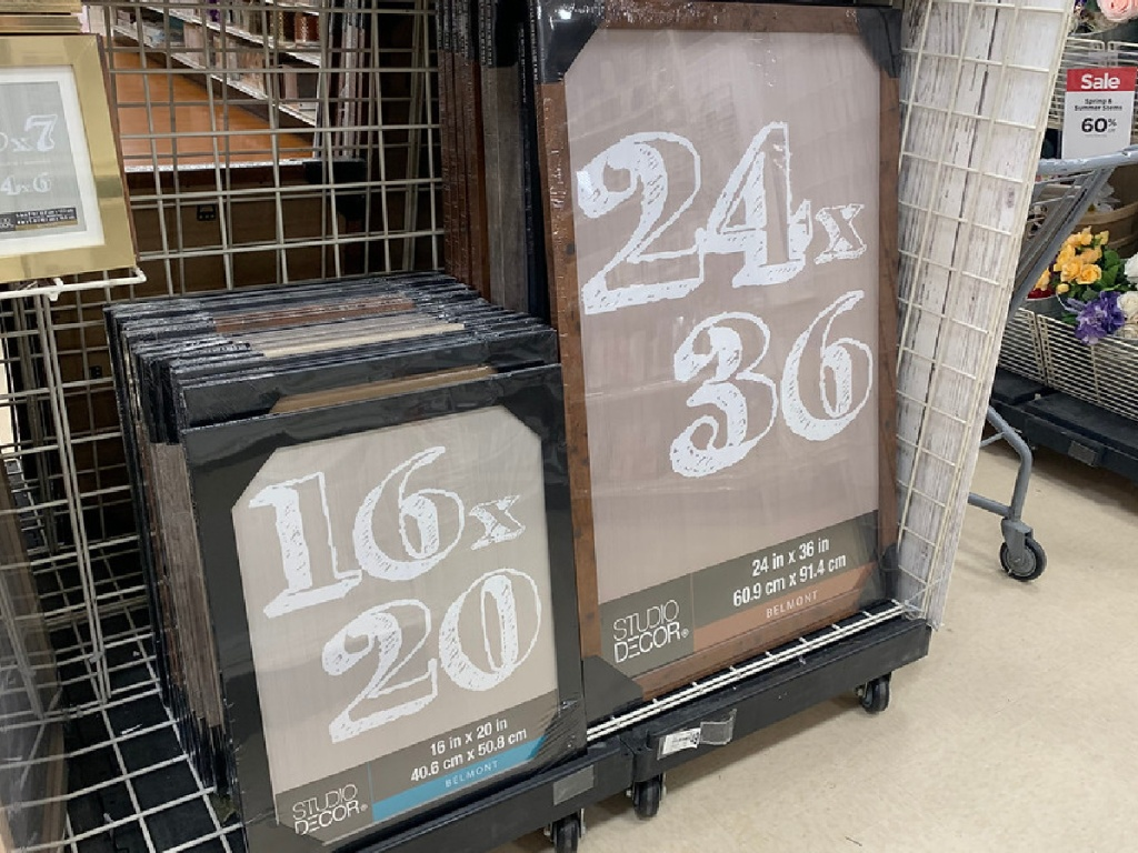 large frames in store