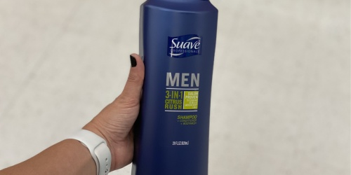 Suave Men 3-in-1 Shampoo 28oz Bottle Only $1.84 Shipped on Amazon