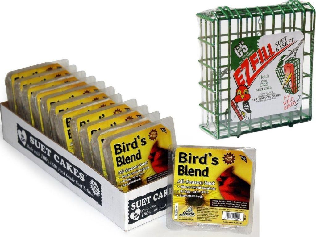 Suet Bird Seed Cakes & EZ Fill Basket