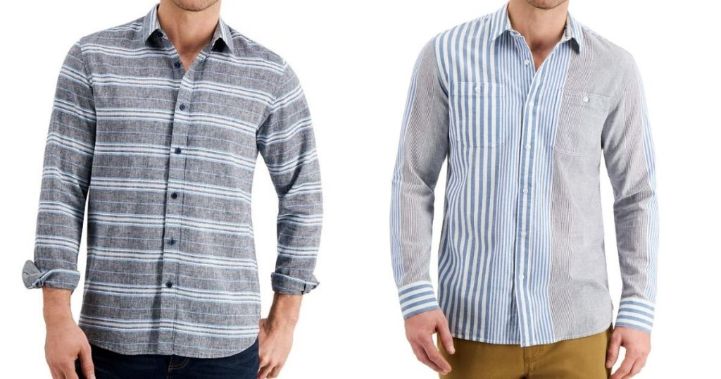 two men wearing shirts