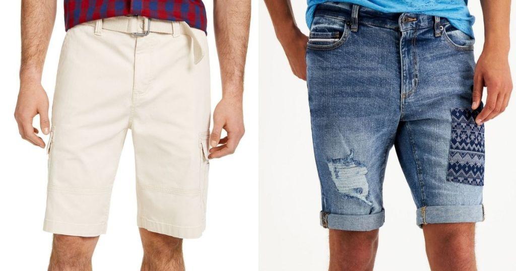 two men wearing shorts