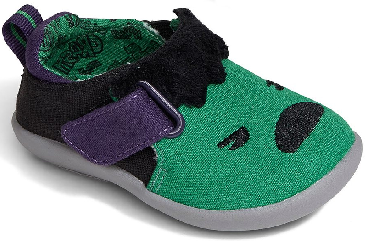 Hulk TOMS kids green and black shoes