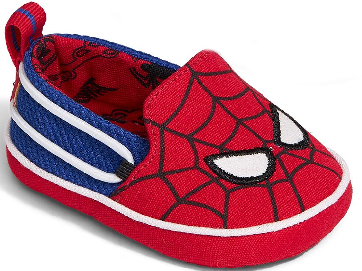 spiderman slip on TOMS shoes