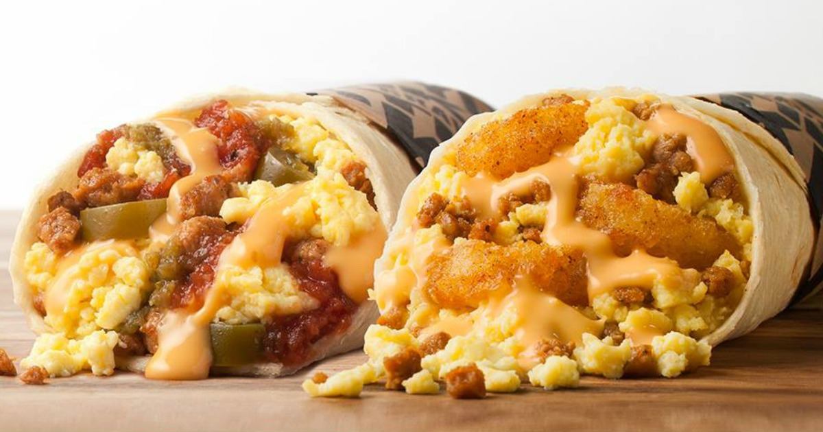 Taco John's Meat and Potato Burritos in two different flavors - chicken & Beef