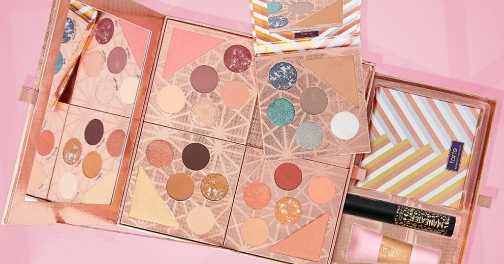 Tarte mini eyeshadow palettes in a gift box