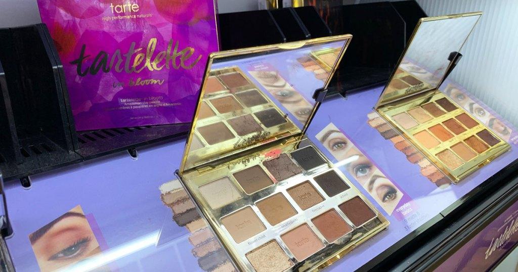tarte in bloom eyeshadow palette on display at ulta