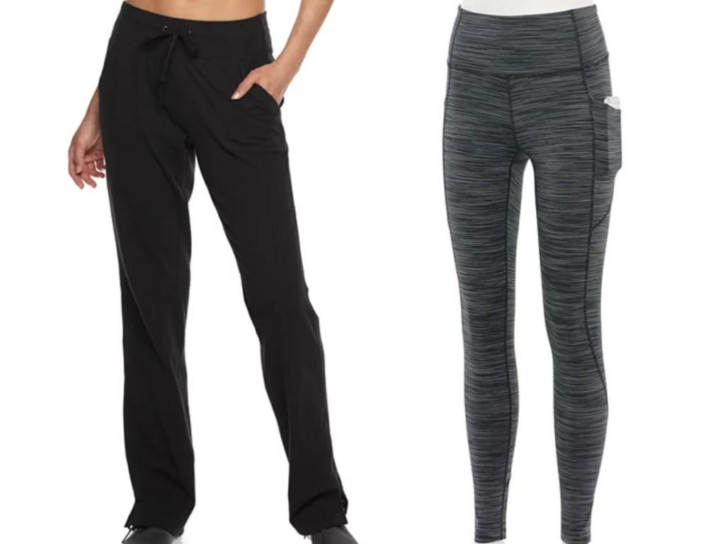 tek gear straight leg athletic pants and leggings