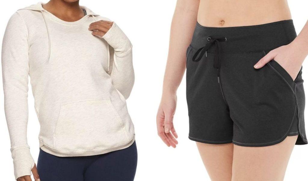 Tek Gear Women's Hoodie and Shorts