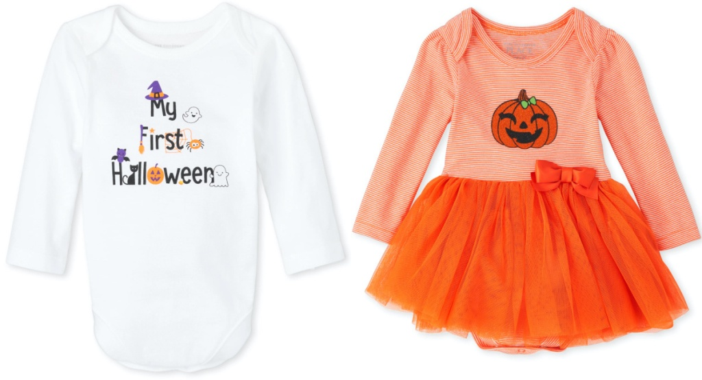 baby Halloween themed bodysuit and dress