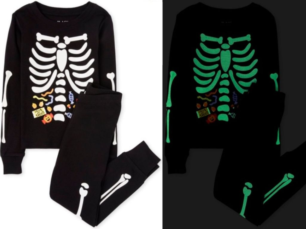 The Children's Place Kids Candy Skeleton Pajamas