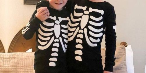 Up to 60% Off The Children's Place Matching Family Halloween Pajamas + Free Shipping | Glow-in-the Dark Styles