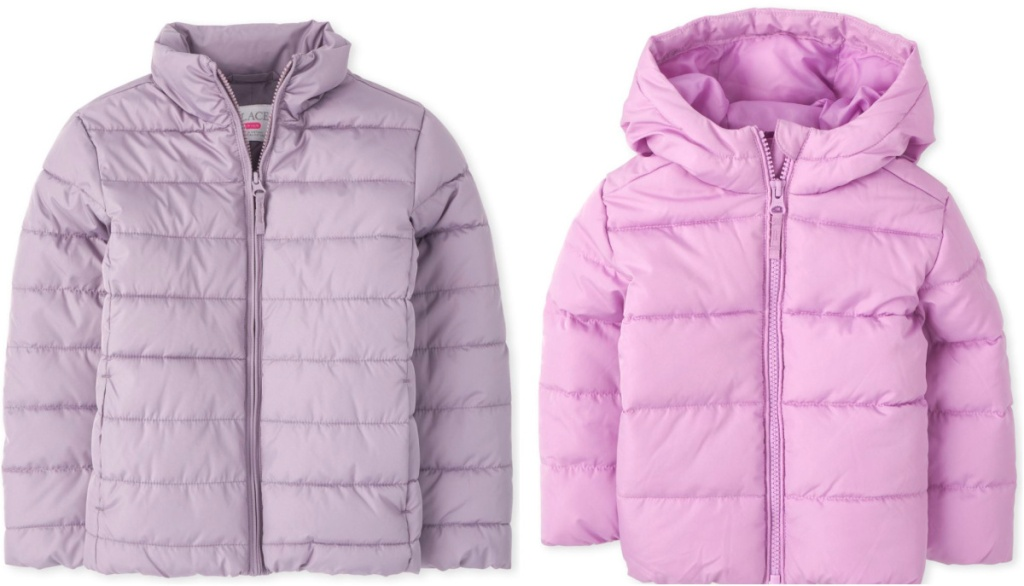 2 girls puffer jackets from the children's place