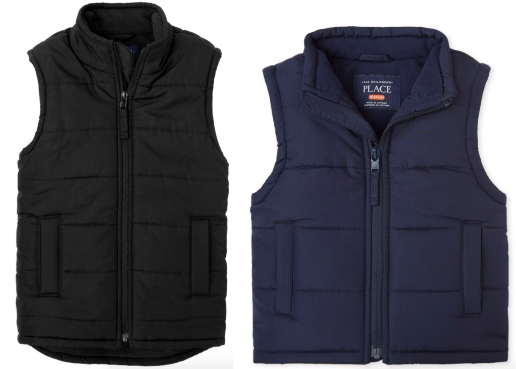 Boys and Toddler Boys Children's Place Puffer Vests