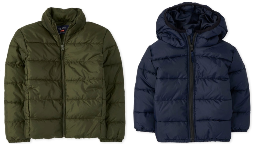 boys and toddler boys puffer jackets