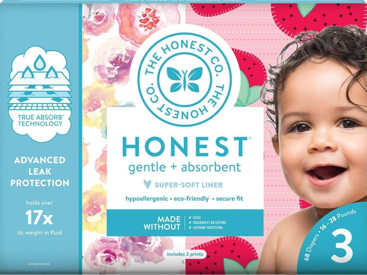 stock image of The honest company diapers packaging