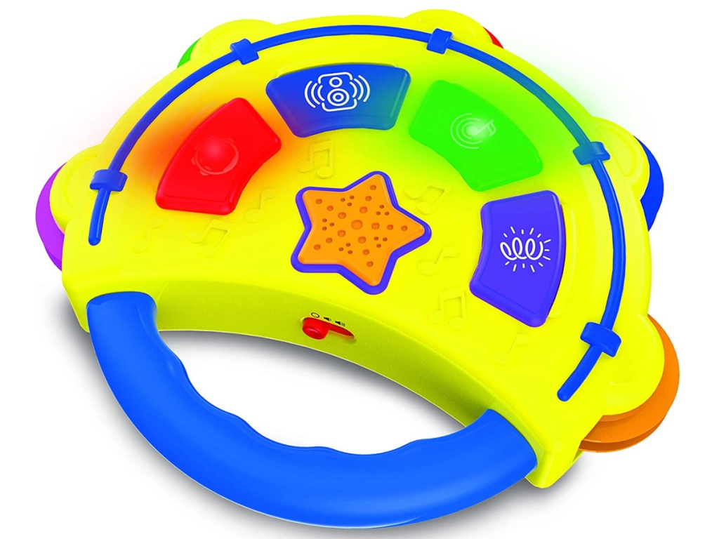 The Learning Journey bright yellow and colorful tambourine