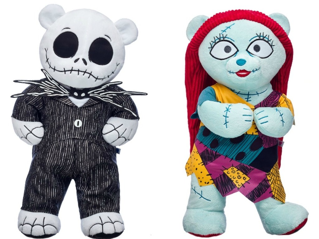 Jack and Sally Build-A-Bear characters