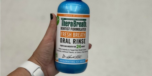 TheraBreath Oral Rinse 2-Pack Only $10.85 Shipped on Amazon | Just $5.42 Per Bottle