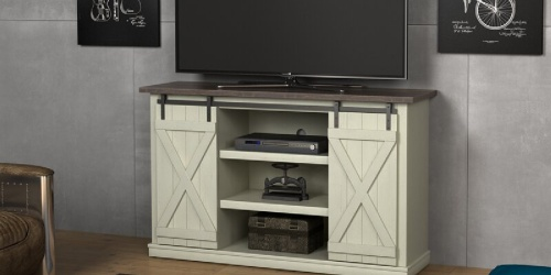 Farmhouse-Style TV Stand Only $185.99 Shipped (Regularly $290)