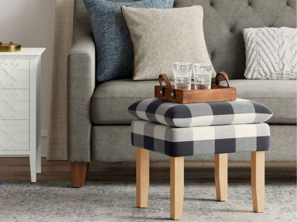 Threshold Buffalo Plaid Stool