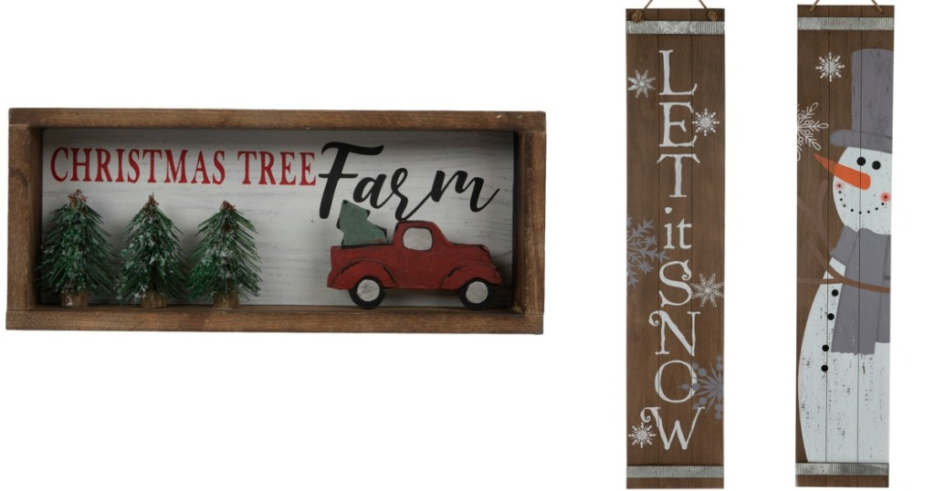 Tree Farm Sign and Let It Snow Sign