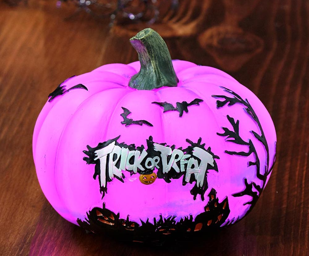 Trick or Treat Purple Pumpkin