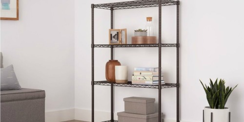 5-Tier Rolling Steel Shelving Unit Only $76.87 on HomeDepot.com (Regularly $134)