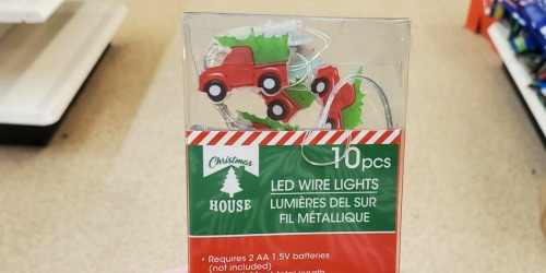 Christmas House LED Shimmer Light Strands 10-Count Only $1 at Dollar Tree